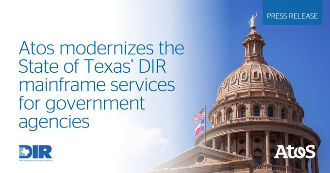 Atos North America today announced it will transform @TexasDIR's mainframe technology to enabl...
