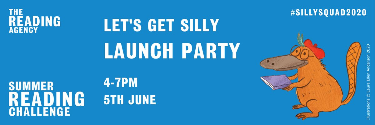 Are you ready to join the #SillySquad? The schedule for our #SummerReadingChallenge Launch Party has been announced, and it's going to be seriously silly! Join us on Facebook on 5 June to catch all the fun - and check out the schedule of silliness here: