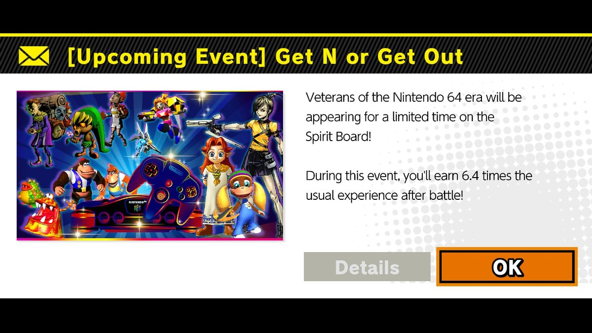 Ayy, I knew they were going to use THAT name for the upcoming Spirit Board event! #SmashBros #NintendoSwitch