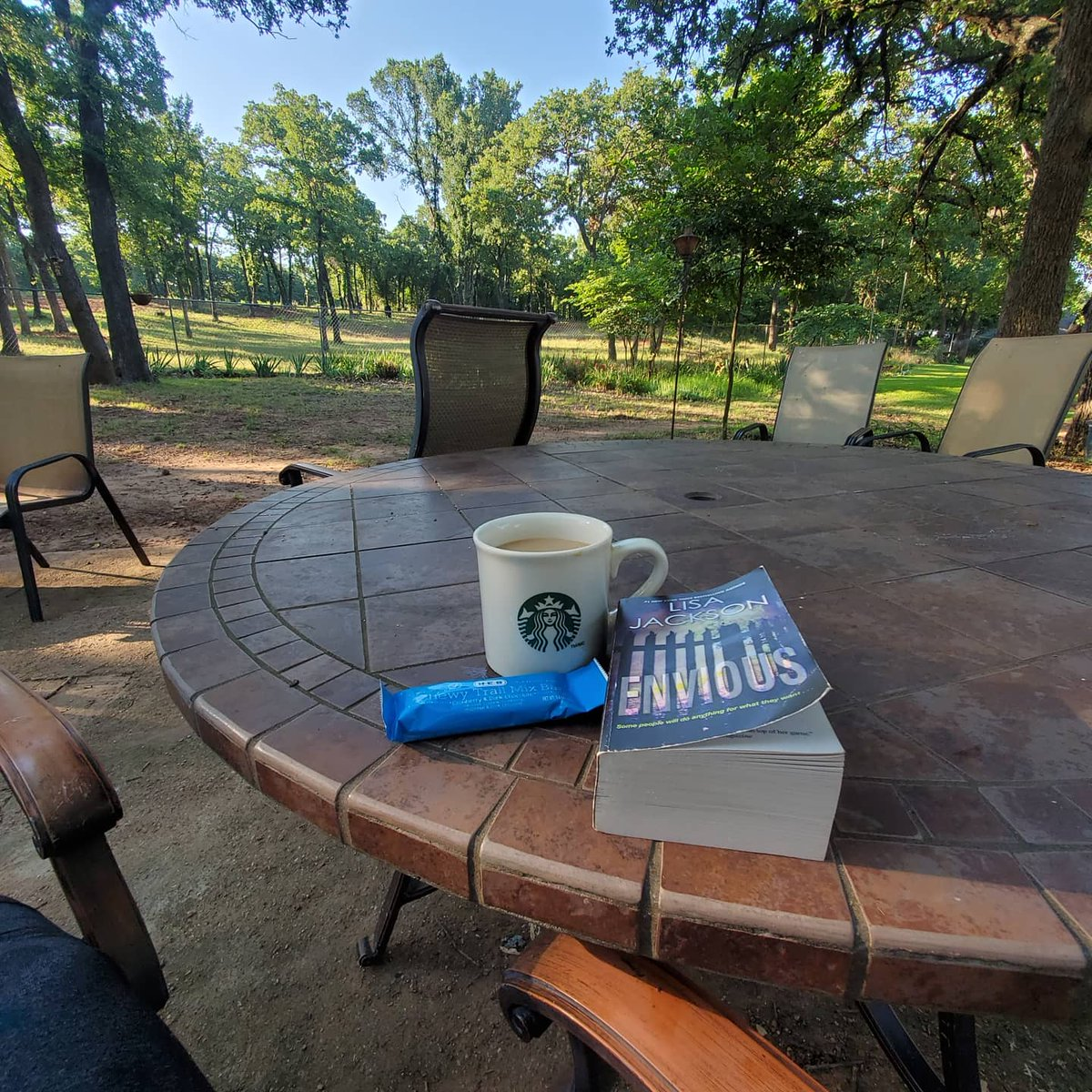 Early mornings with coffee, a good book and the view the ranch afford me get me ready to make others lives amazing.  Book your massage at Balm & Fizz on the ranch to get your breath of relaxation.  #massagetherapylife #bookmassage #relaxation  #ranchlife pic.twitter.com/9VDiiJ1yIO