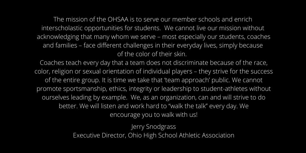 From #OHSAA Executive Director @Jerry_Snodgrass https://t.co/KuNl53puZQ