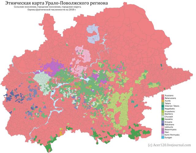 Onlmaps On Twitter Ethnic Map Of Volga Urals Region Of Russia 2018 Https T Co 4zexxzu9ke
