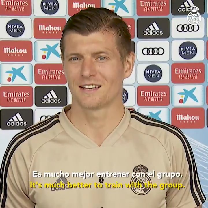 🇩🇪⚽ @ToniKroos: Lets see what its like to play behind closed doors; the team that adapts best will win #RMCity | #HalaMadrid