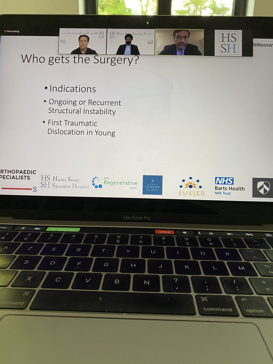 Great turnout for our webinar on #elbow and #shoulder. Excellent talk on shoulder instability by @AliNoorani1 . Mr Jagwant Sing and @expertknee moderating.   @thelondonclinic @OrthopaedicSpec @orthoca @az_monica https://t.co/ALVTcXsTun