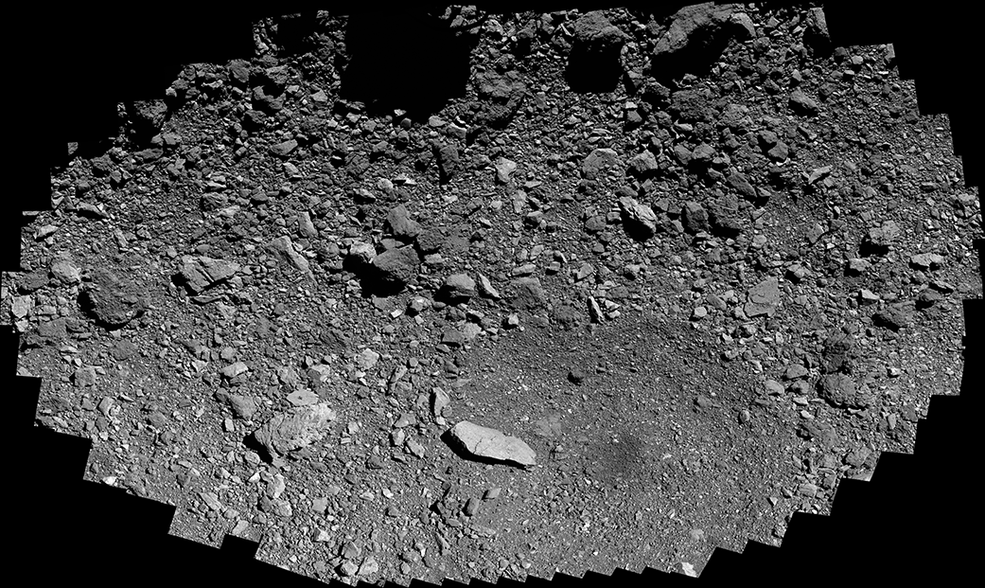 Last week, our asteroid-sampling spacecraft @OSIRISREx made its closest swoop –– 820 feet (250 meters) –– over Osprey, a backup sample site on asteroid Bennu. The mission will make its first collection attempt at primary site Nightingale on Oct. 20: go.nasa.gov/3eK2xJt