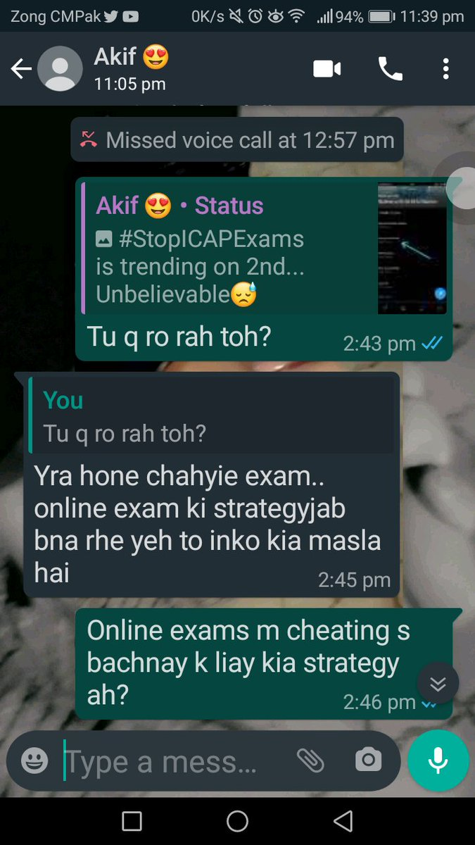 """Is he the only one """"jo chahta ah k Online exams ho""""?  #StopICAPExams pic.twitter.com/7YyR5zs2qA"""
