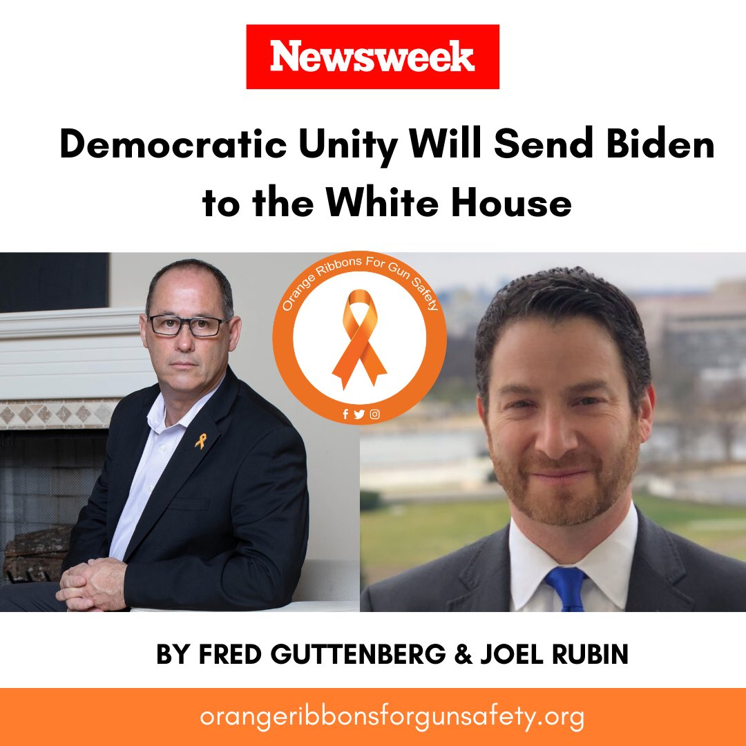 @Fred_Guttenberg and @JoelMartinRubin join forces in their @Newsweek op-ed as they share the importance of coming together to elect VP @JoeBiden as our next POTUS. More at https://t.co/qoJfcHXSEU.   #OrangeRibbonsForGunSafety https://t.co/J3B0YvC9fT
