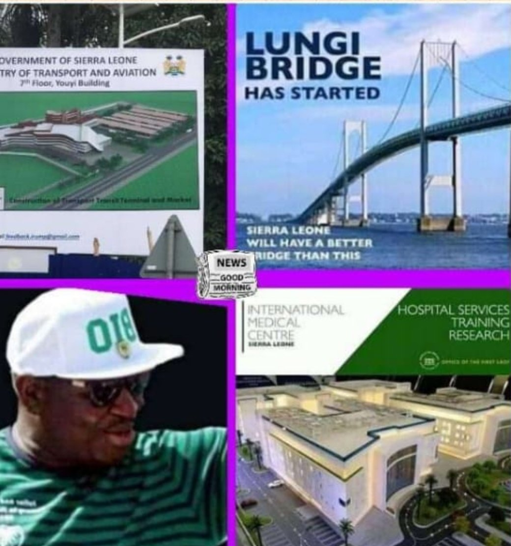 #Freetown,#SierraLeone - The good news you've been waiting to hear is now a reality and Talk of The Town na Freetown. Construction of The Lungi Bridge, The International Medical Centre, and The Lumley Transportation Terminal and Market have just begun. https://t.co/qZmrBM1pOA