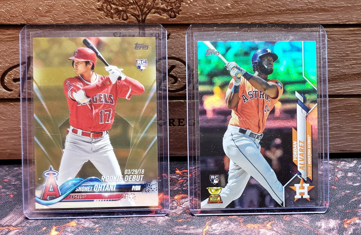 Ohtani $9  Yordan $5 Prices are shipped obo.  RT appreciated @HobbyConnector https://t.co/lgTpH63hYT