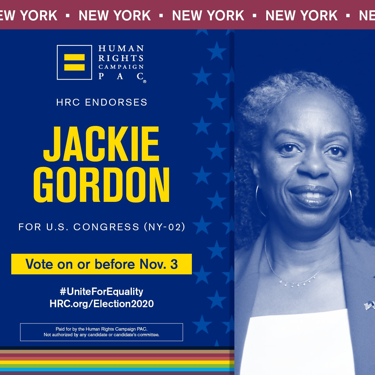 As we celebrate #PrideMonth, I'm proud to receive the endorsement of the @HRC, and I look forward to standing side by side with them to build a more inclusive Long Island. I will always be a strong voice for the LGBTQ community in Congress.