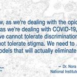 Image for the Tweet beginning: .@NIDAnews Director Dr. Nora Volkow: