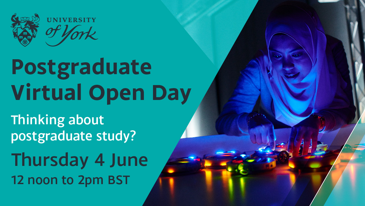 Today is your last chance to book a place on our Virtual Open Day tomorrow (12 noon - 2pm BST). Discover postgraduate study, register now: https://t.co/JJ4hk5ujXO https://t.co/8ODW6NJa6K