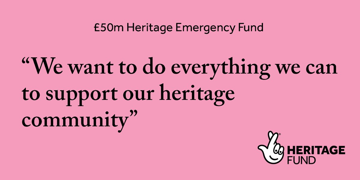 Our #Heritage Emergency Fund is open now for applications. There are two grant ranges - £3,000-£50,000 and £50,000-£250,000. Find out more and apply: heritagefund.org.uk/funding/herita… #LoveHeritage #Funding