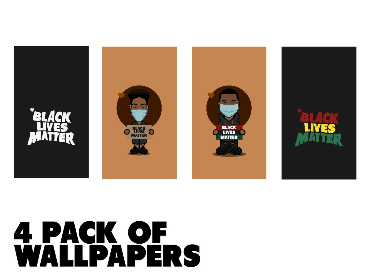 its #wallpaperwednesday & when you purchase this pack of custom blm wallpapers, 100% of the proceeds will be donated to the atlanta solidarity fund. the goal is to raise $500, but cant do it without your help. #blacklivesmatter 🖤: etsy.me/2XRhcM8