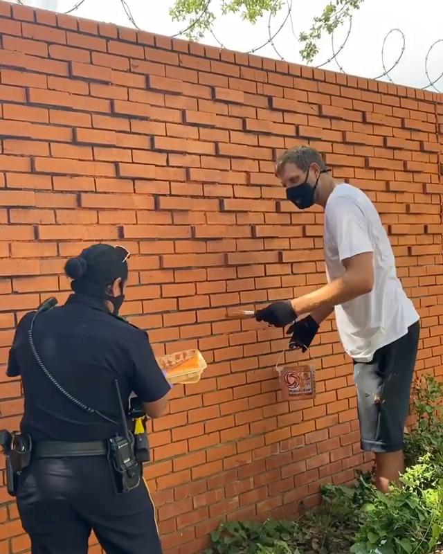 Dirk took action to help rebuild his community 🤝 @swish41 (via @dallasmavs)