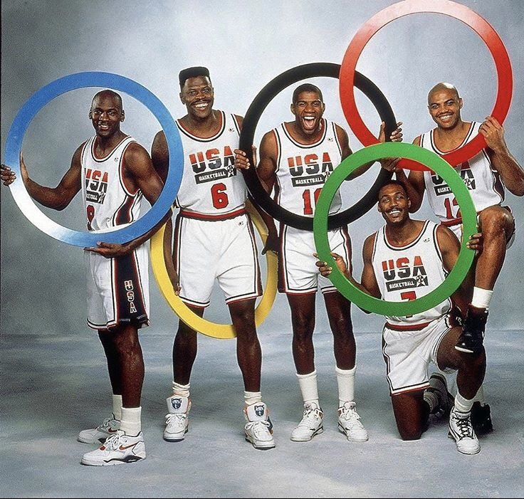 Gearing up for the #1992SummerOlympics #GamesoftheXXVOlympiad #1992 #MichaelJordan #PatrickEwing #MagicJohnson #KarlMalone #CharlesBarkley #Barcelona #summerolympics #neighties #90s #basketball #🏀 https://t.co/vPDHB6f3NU