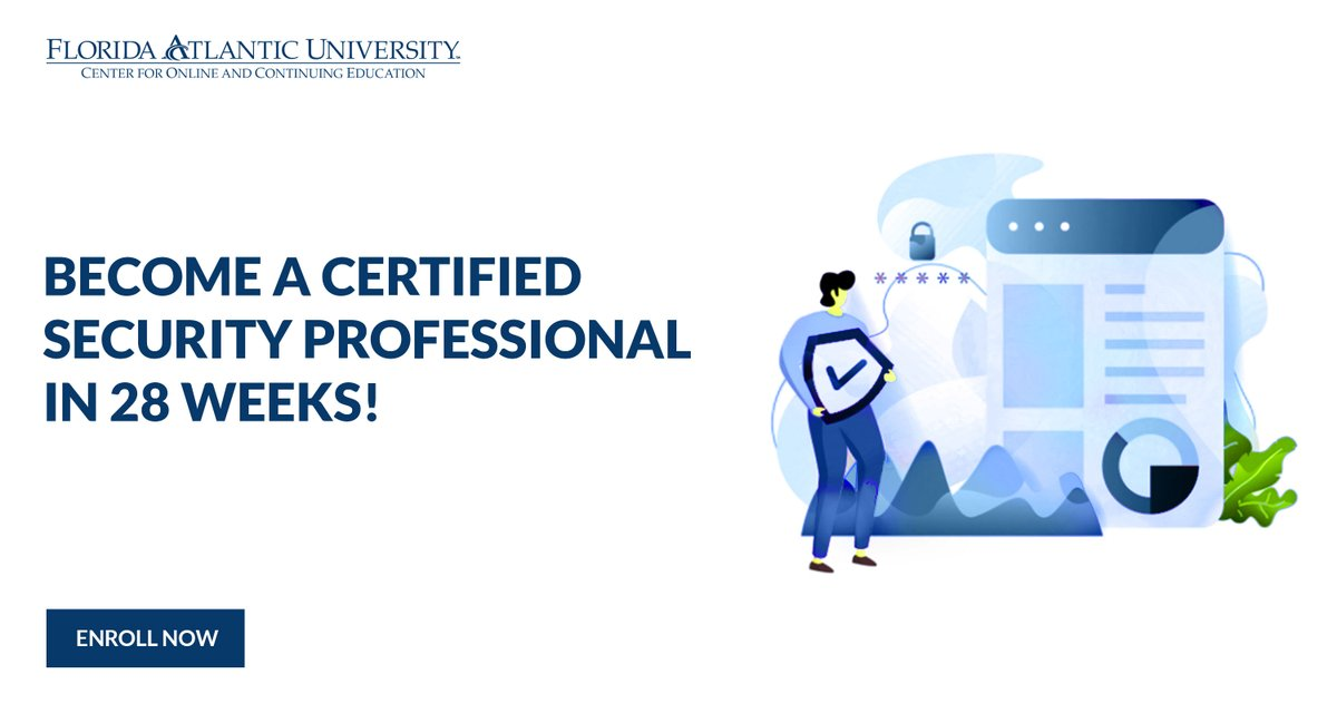 Accelerate your career with our 28-week Online Cybersecurity Bootcamp that prepares you for IT, networking, and modern information security. Request more information on below link  https://bit.ly/3aep9yYpic.twitter.com/uZvrBJPnNU