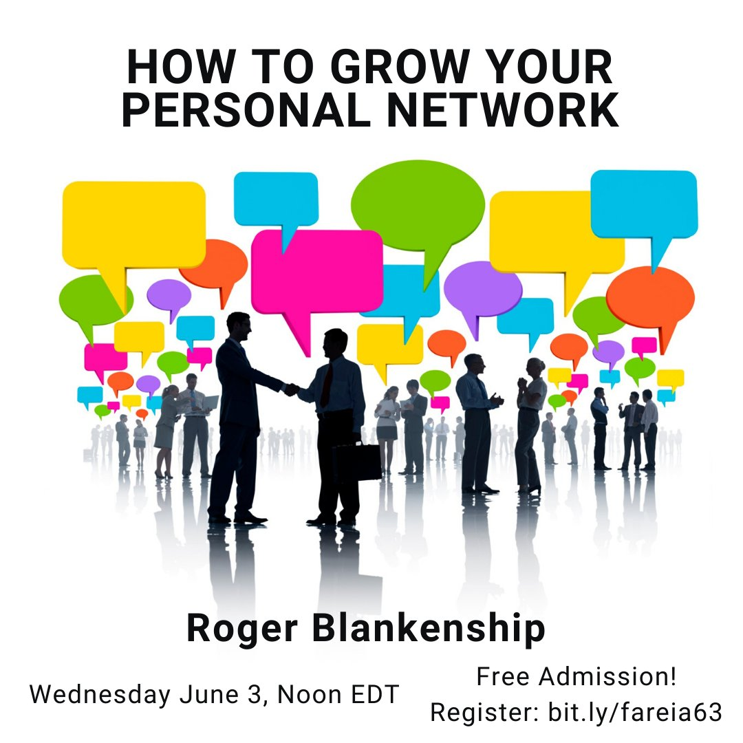 """In a few minutes: """"How to Grow Your Network"""" They say your Network is your Net Worth. That may be true and if it is, building your network could be one of the most important things you will do. We will talk key steps and principles. http://bit.ly/fareia63 #networking pic.twitter.com/ACI6fe7uaU"""