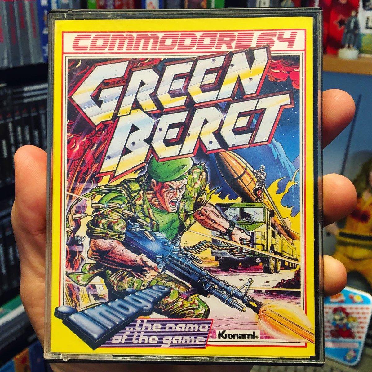 Green Beret - Konami - Commodore 64 Game - 1985 #retrogaming #retrogames #retrogamer #gamer #gaming #greenberet #popculture #commodore64games #c64 #youtuber #1980s #8bit #gamecollection #gamerguy #collectibles #gameroom #commodore #videogames #konami #rushnattackpic.twitter.com/pP2g7J63R9