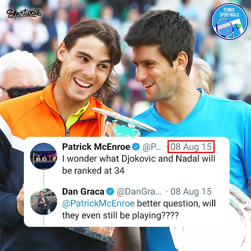 This didn't age well, did it?   Getty | #tennisathome #stayhome #novakdjokovic #djokovic #nolefam #RafaelNadal #RafaNadal #Nadal #atp #atptour #tenis #tennis #Sportwalkpic.twitter.com/ylT6DY6dOS