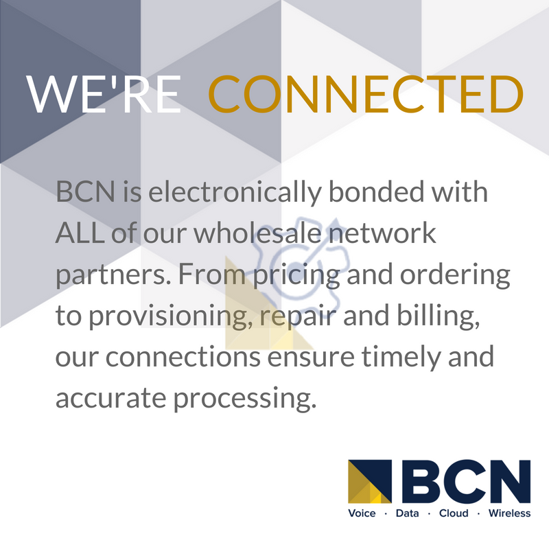 We're Connected. BCN is electronically bonded with ALL of our wholesale network partners. Ensuring timely and accurate processing! #bcn #wholesalenetworkpartnerspic.twitter.com/WMaWxAdic8