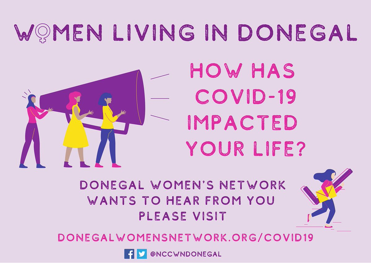 We need your help ☺️@NCCWNDonegal wants to hear from women living in #Donegal and is inviting women in the county to take part in our #Covid_19 impact survey here forms.gle/EUUG4QVjhZidru… All fully completed surveys will be entered in a draw for €100 Shopping Voucher too!