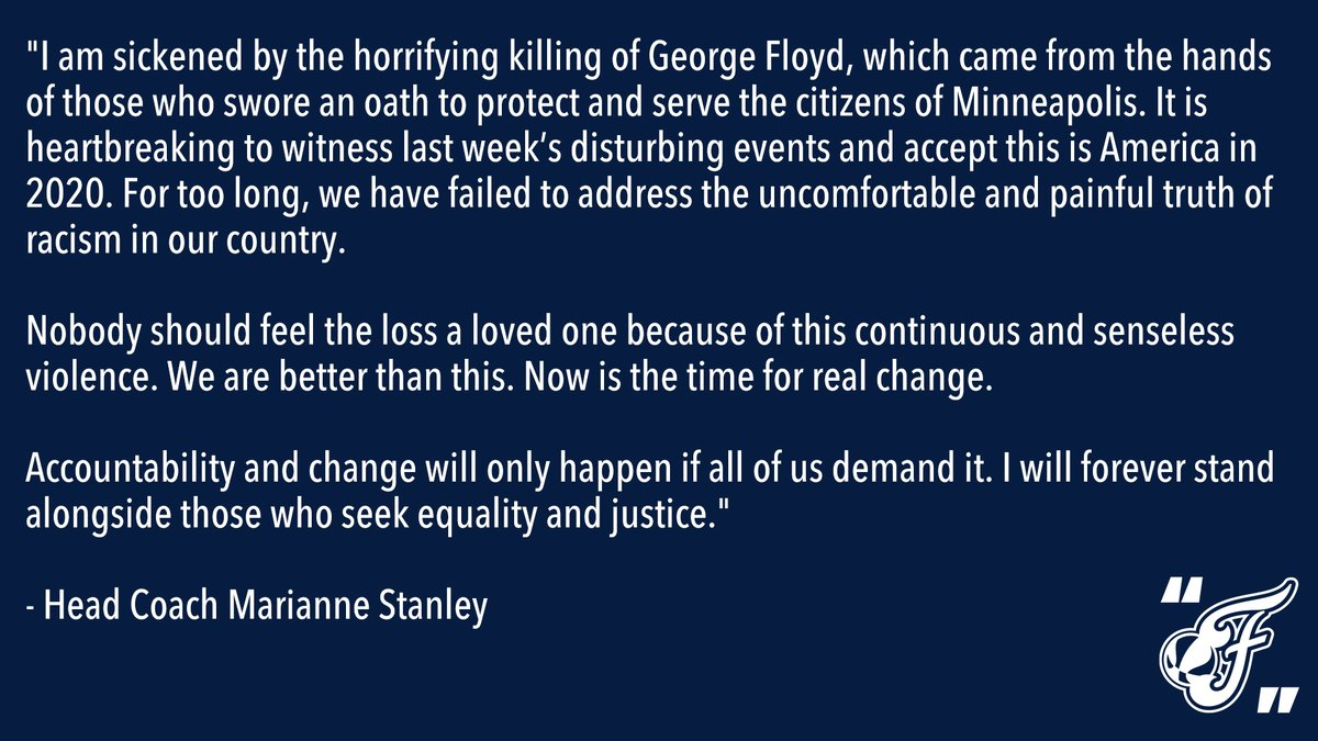 Statement from Head Coach Marianne Stanley. https://t.co/W3cmMg0WT3