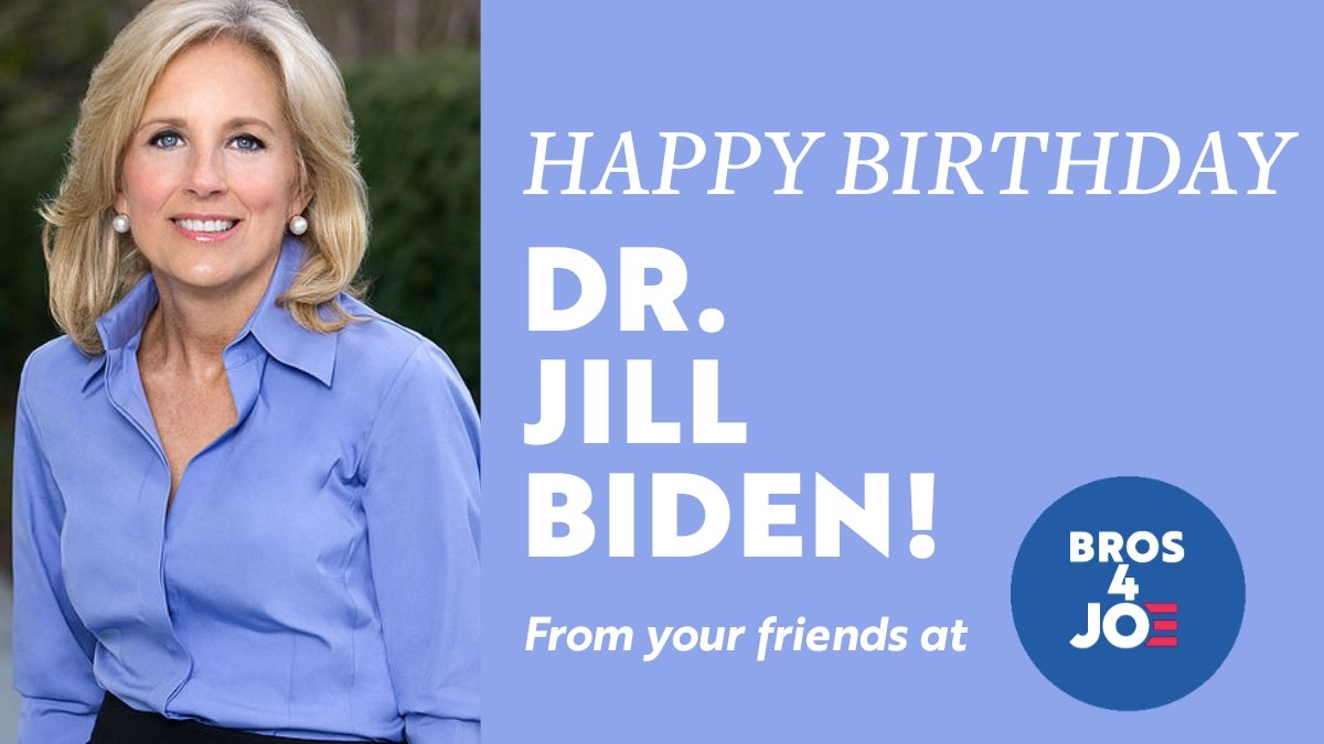 Wishing our next First Lady @DrBiden the most fabulous birthday ever! Cheers! 🥁❤