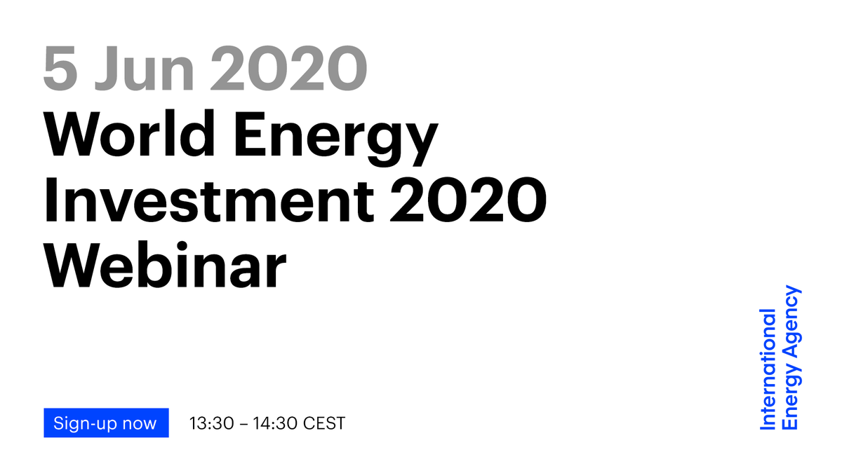 Join the authors of World Energy Investment 2020, which provides a unique perspective on how energy capital flows are being reshaped by the #Covid19 crisis, for a public webinar on the key findings:  🗓️ Friday 5 Jun ⏰ 13:30-14:30 CEST ✍️ Register → https://t.co/Nyzrlk4MaM https://t.co/fXtqNwQH7p