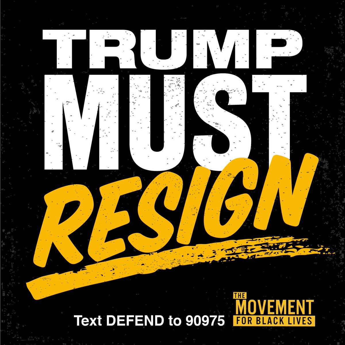 Donald Trump must resign