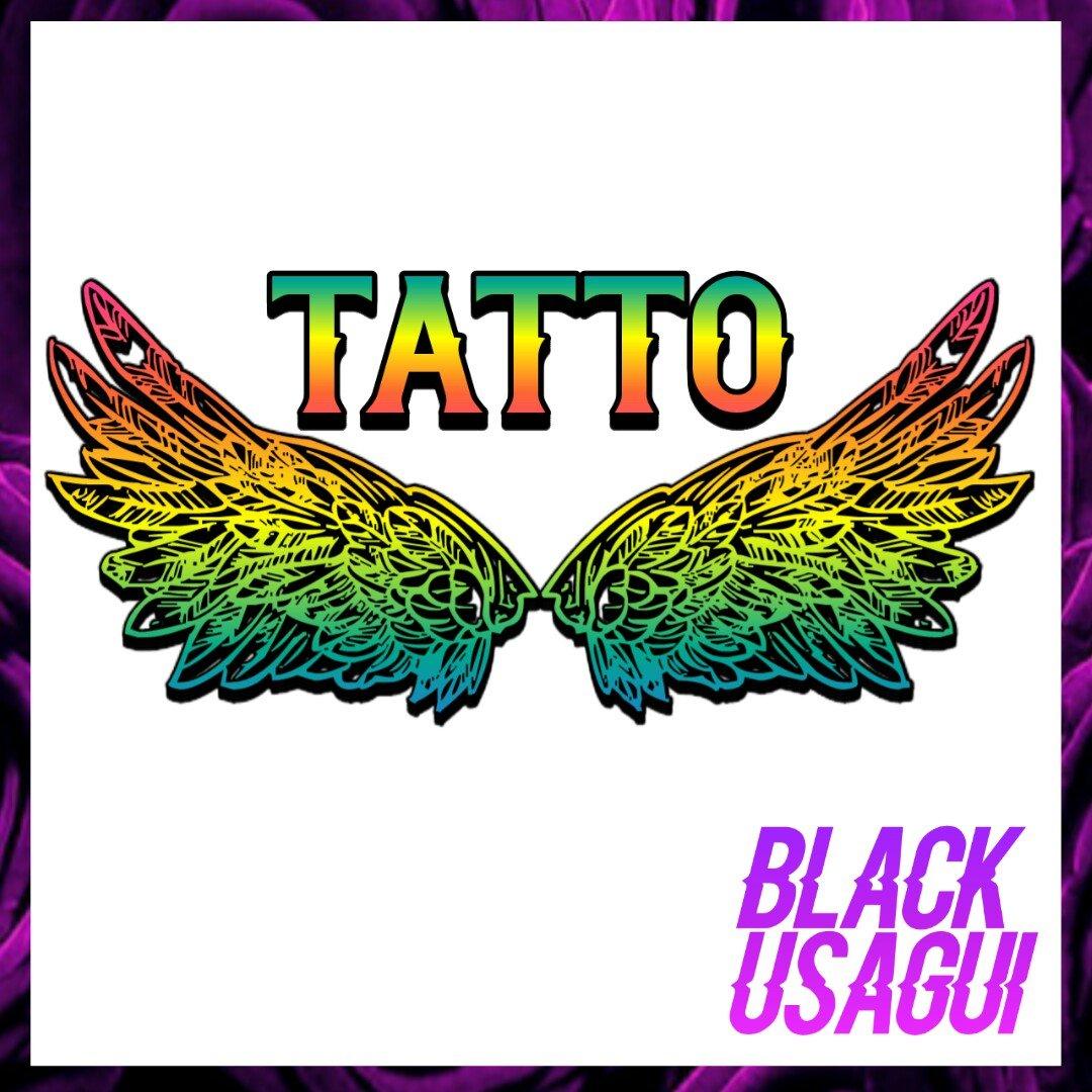 🔹Logo combinado: Figura y letras  🔹Editable. Preguntar al MD 😉  #Logo #diseño #promo #alas #tatto #tatoo #diseñador #ayuda #flyer #diseñografico #arcoiris