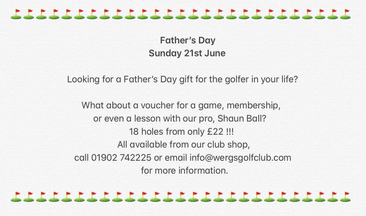 #fathersday #golflife #voucher #progolfer #golflessons https://t.co/bxa9oEuePO