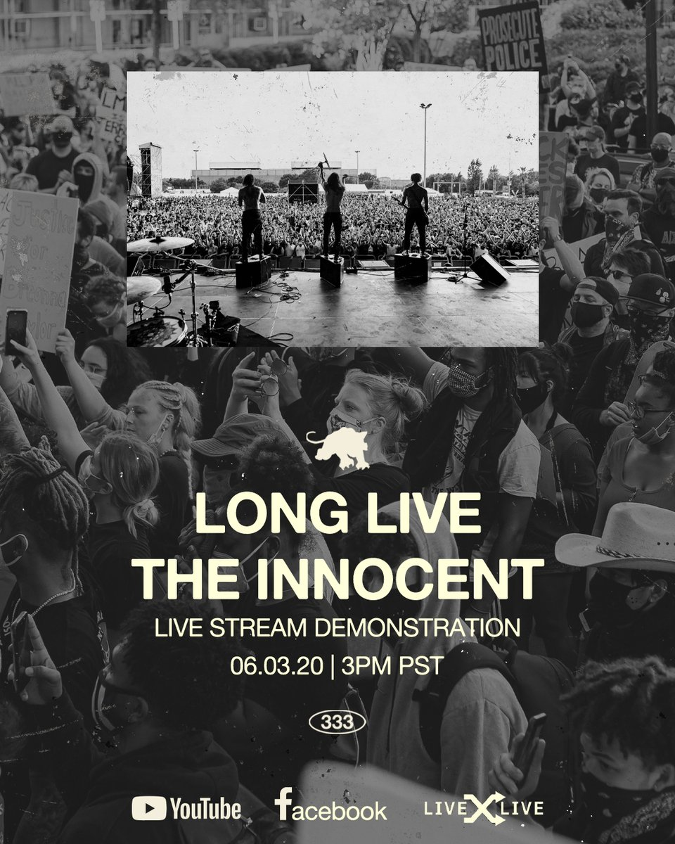 """.@fever333's """"Long Live the Innocent"""" livestream benefit concert goes down today at 6 p.m. ET/3 p.m. PT. Watch on our Facebook: https://t.co/RhiQb6ARgF https://t.co/oyYoGCMXU3"""