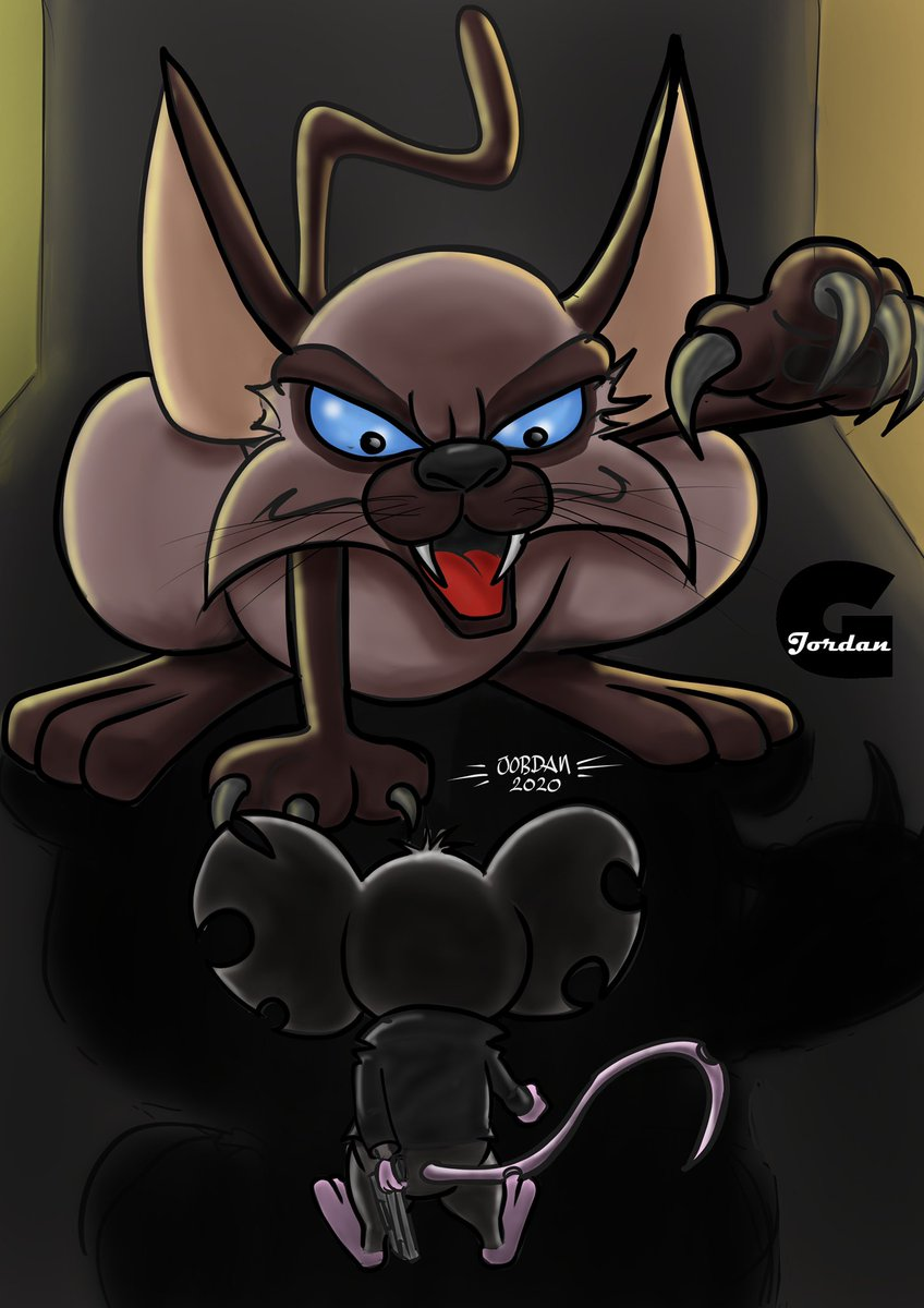 End of the line... at least for one of them... #art #blackart #digitalart #characters #mouse #cat #illustrations #fuckedup #fables #gritty #cartoon #notforkids #jordan #commissionspic.twitter.com/LsRzbauqVS