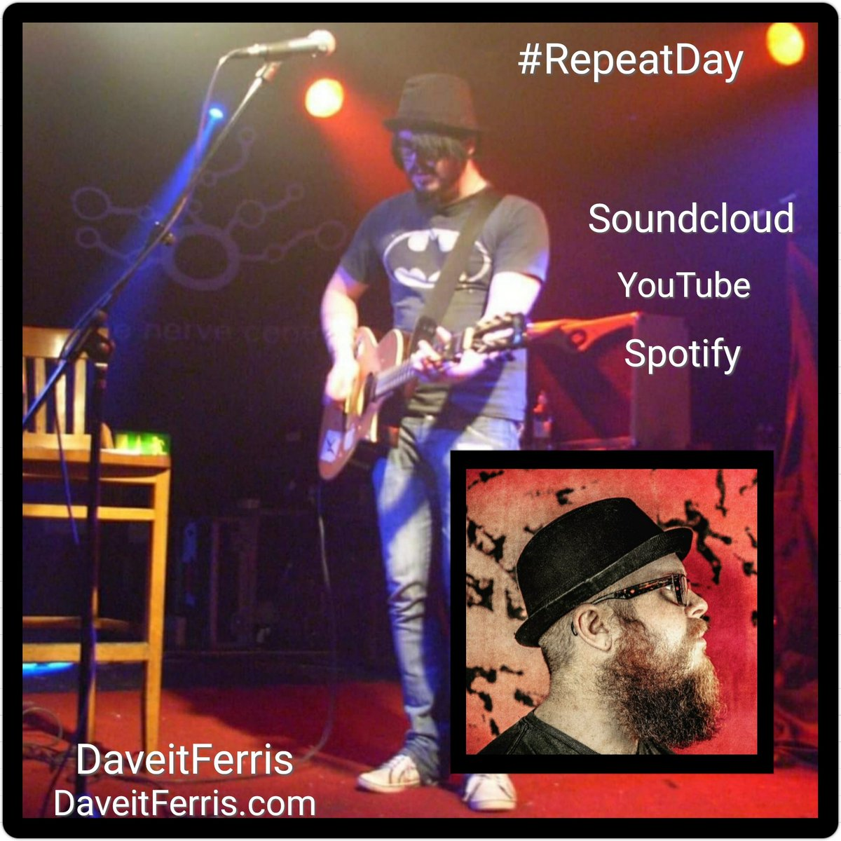 #RepeatDay Be mesmerized by the tunes of @DaveitFerris, with songs that are so insanely good you'll have them on repeat!!!   https://t.co/4yNPsB0w8p  https://t.co/dn3XghnO9d  https://t.co/7SW97ina8k  To Purchase ⤵️⤵️⤵️  https://t.co/EGLZQRZTZe  https://t.co/OJj0l0ZcSE https://t.co/eQCFvK1EpO