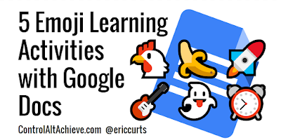 A1: Emojis can be used in Google Docs for telling stories, character emotions, solving math problems, and more controlaltachieve.com/2017/01/docs-e… #CVTechTalk #ControlAltAchieve