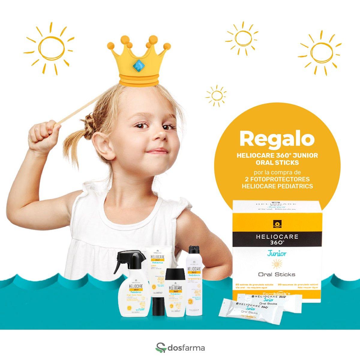 👧 Protección solar oral para vuestros peques. 🌞  Por la compra de dos o más fotoprotectores Pediatrics, ➡ https://t.co/PV4KBPmQ8o ⬅ os lleváis un Heliocare 360º Junior GRATIS a casa.  #dosfarma #farmacia #parafarmacia #online #heliocare #promoción https://t.co/AApjhsAeF1