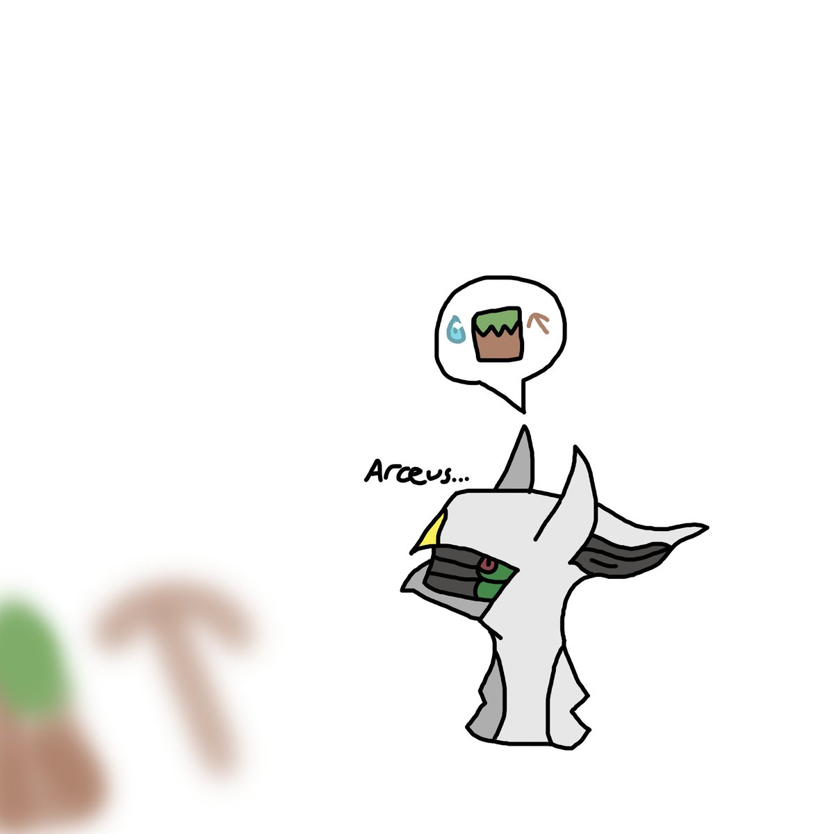 Got into an Arceus mood, actually did Arceus quite well, with the Japanese source #Minecraft #Arceus #Pokemon #Art