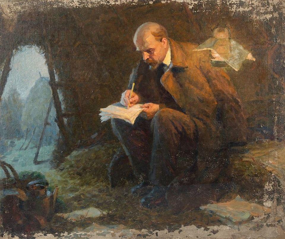 Ленин пишет пером картина фото
