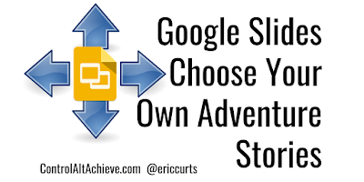 A2: Links in Google Slides can let you make non-linear activities like quizzes, Jeopardy games, and branching stories https://t.co/SYytln8SOm #CVTechTalk #ControlAltAchieve https://t.co/yO0PHDH7BH