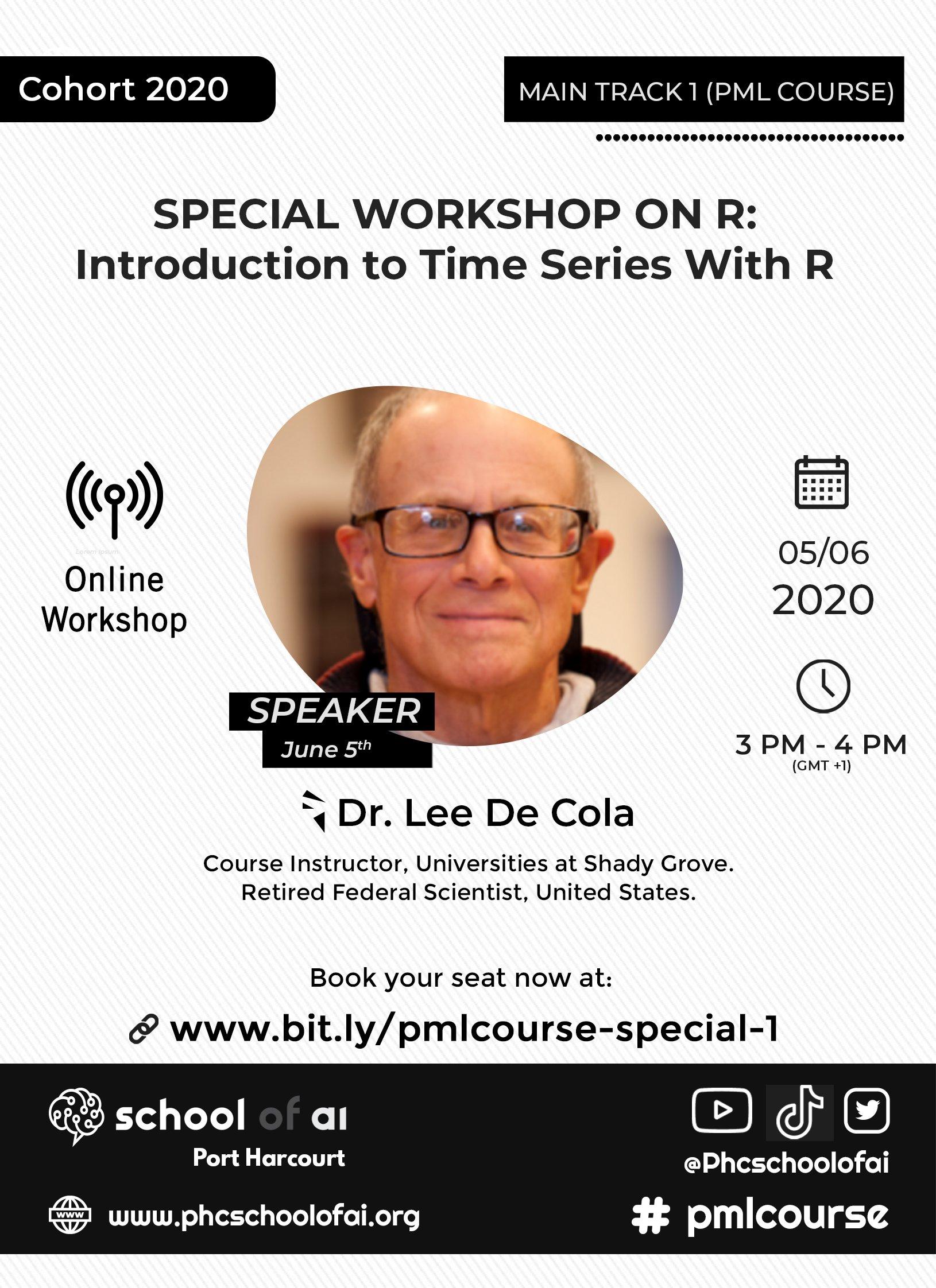 Dr Lee De Cola's Workshop on R