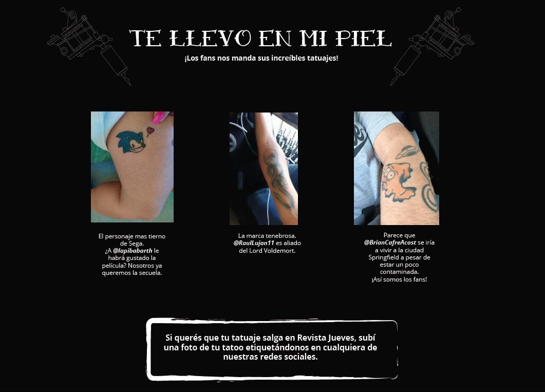 #TeLlevoEnMiPiel🎨  ¡Mandanos tu #tatoo nerd! Salí en #RevistaJueves y mostrale al mundo como tu pasión se lleva en la piel.  ¿@BrianCafreAcost nadaría por las contaminadas aguas de Springfield?