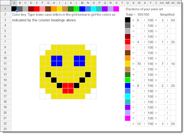 A3: Google Sheets is great for Pixel Art for creativity, maps, diagrams, math, and more https://t.co/BRjq3KIwnT #CVTechTalk #ControlAltAchieve https://t.co/ombqzKVuBh
