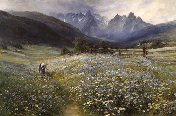 John MacWhirter (1839 - 1911) June in the Austrian Tyrol, 1892. #Austria #painting #artpic.twitter.com/HNiKib3reU