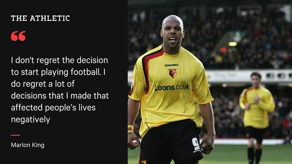 New interview for @TheAthleticUK with Marlon King from his home in Zambia.   Read here: https://t.co/SSCZJHreyp https://t.co/G4fZ3rbqUW