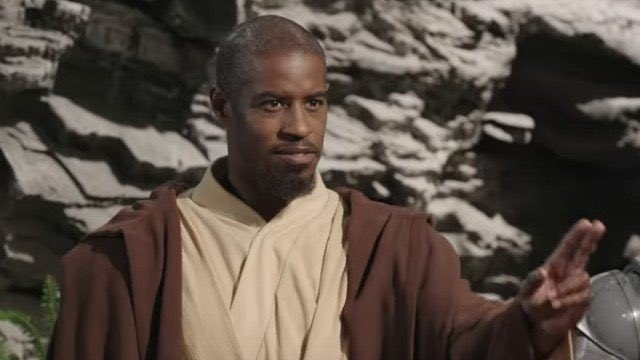33. Ahmed Best as Achk Med-Beq in Attack of the Clones.