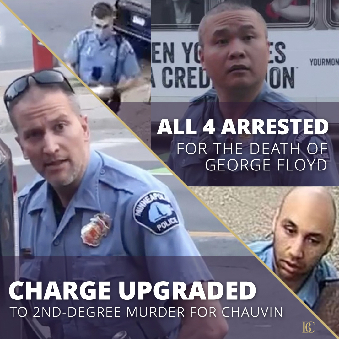 FAMILY'S REACTION: This is a bittersweet moment. We are deeply gratified that @AGEllison took decisive action, arresting & charging ALL the officers involved in #GeorgeFloyds death & upgrading the charge against Derek Chauvin to felony second-degree murder. #JusticeForGeorge