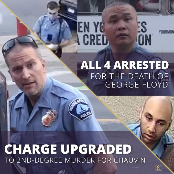 George Floyd's Death: 3 More Cops Charged Other Officer's Murder Charge Upgraded