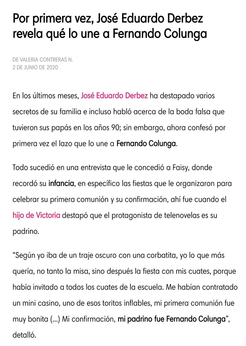 """Gracias a @joseedu92 por recordar momentos bellos con su """"Padrino"""" #FernandoColunga  ... besos desde Perú y #colungateam  Pd. Por ahí vi una foto de la Primera Comunión ... la encontraré https://t.co/U10OGDEWSD"""