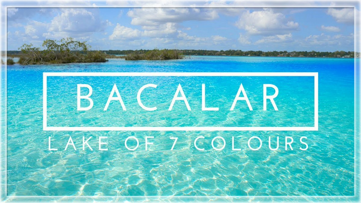 #Bacalar is a town in southeastern #Mexico near the Belize border. It's on #Lake Bacalar also called the #Lagoon of Seven Colors due to its blue and turquoise hues Picture credit-YouTube,Trover #LakeBacalar #travel_journey #traveljourney #naturelover #enjoying #beautifulworld https://t.co/jeEpkc5OMN